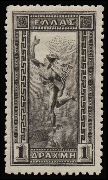 Lot 599 - GREECE-  1901/02 FLYING MERCURY & A.M. 1901/02 FLYING MERCURY & A.M. -  Athens Auctions Public Auction 55 General Stamp Sale
