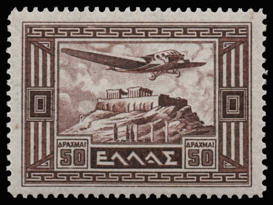 Lot 1012 - GREECE-  AIR-MAIL ISSUES Air-mail issues -  Athens Auctions Public Auction 61 General Stamp Sale