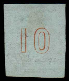 Lot 44 - GREECE-  LARGE HERMES HEAD 1861 paris print -  Athens Auctions Public Auction 55 General Stamp Sale