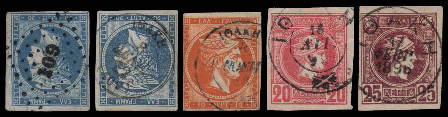 Lot 1497 - - CANCELLATIONS cancellations -  Athens Auctions Public Auction 69 General Stamp Sale