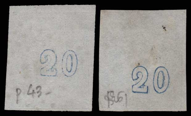 Lot 210 - GREECE-  LARGE HERMES HEAD 1867/1869 cleaned plates. -  Athens Auctions Public Auction 64 General Stamp Sale