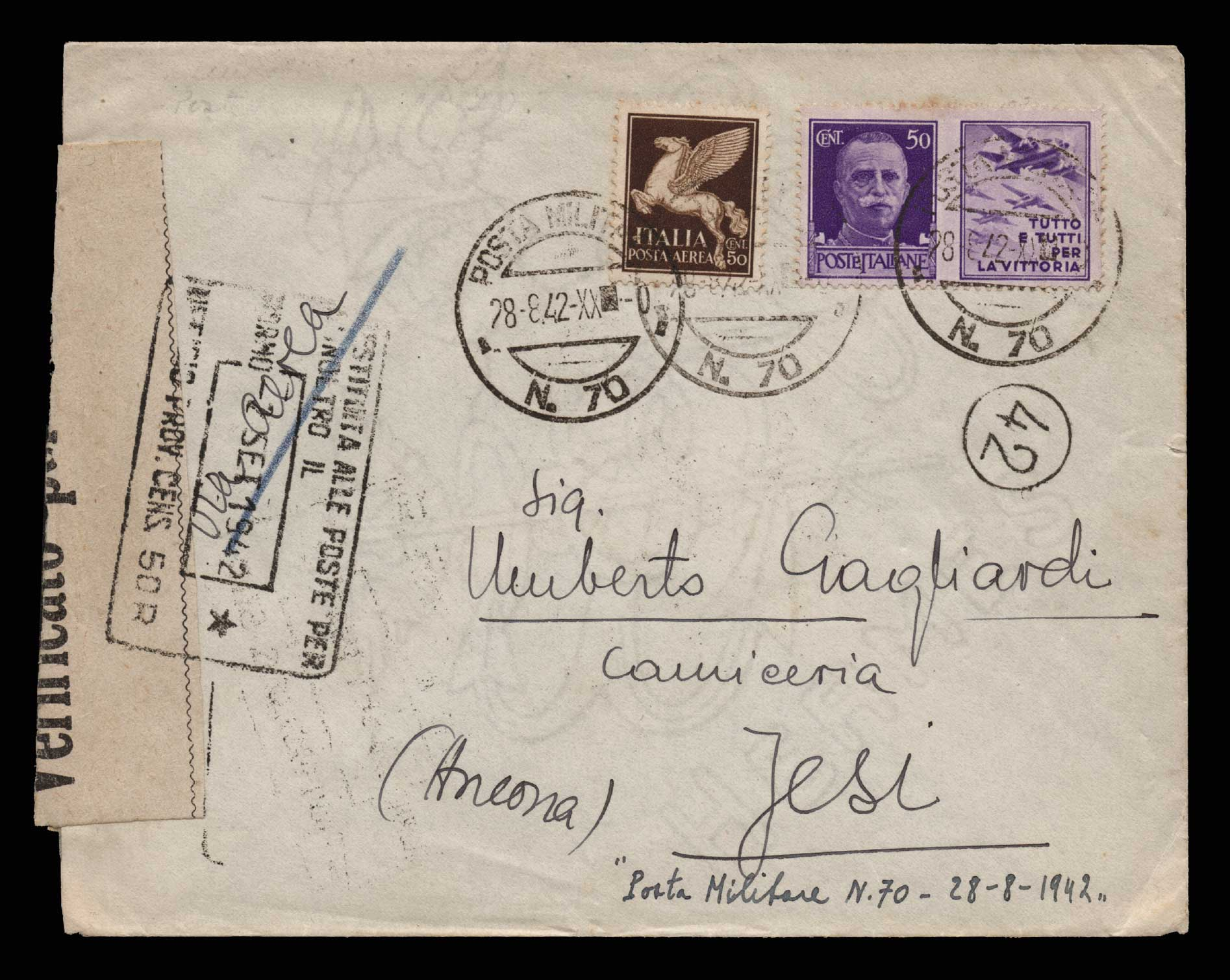 Lot 1358 - -  MILITARY CANCELLATIONS military cancellations -  Athens Auctions Public Auction 82 General Stamp Sale