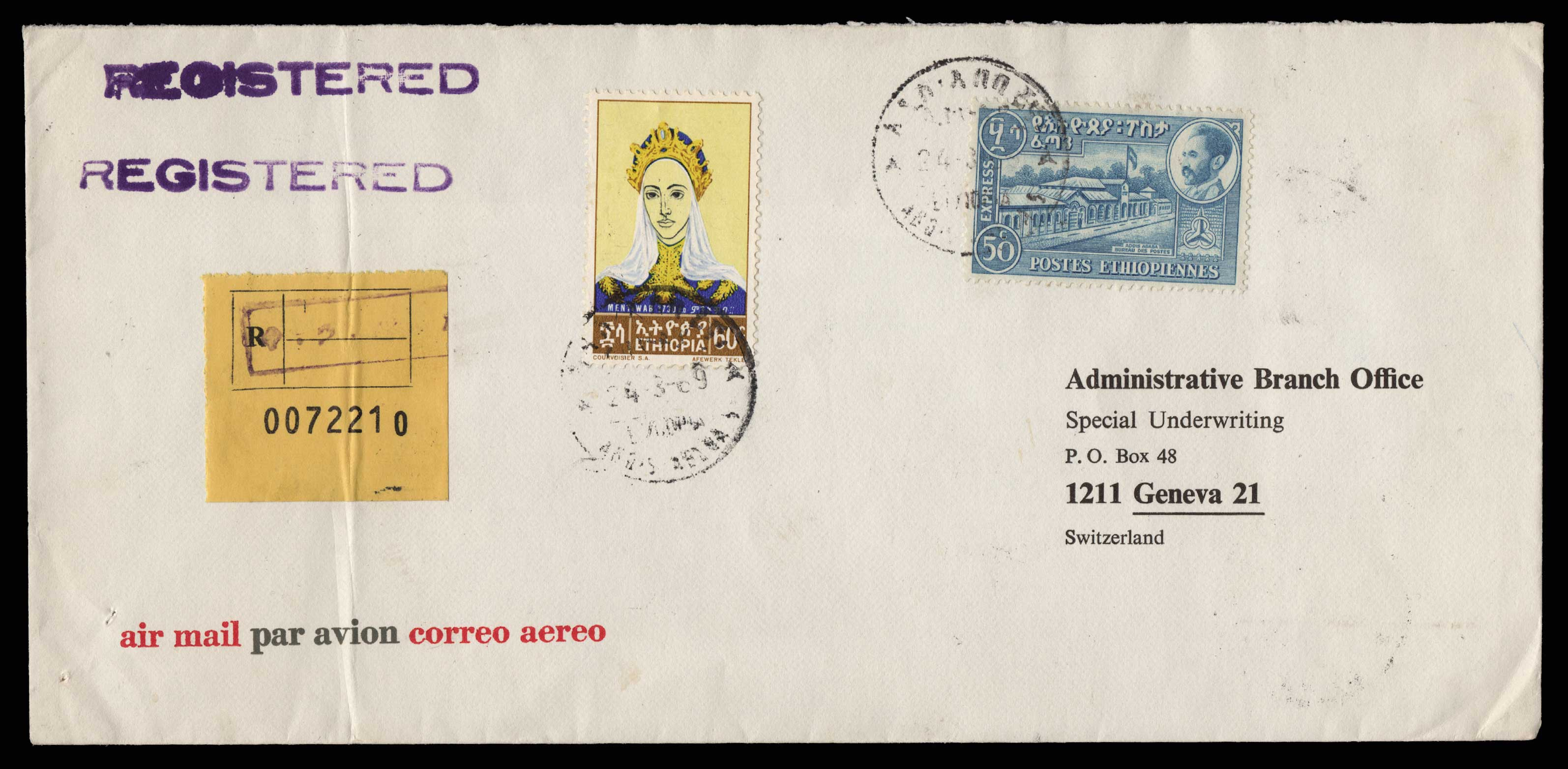 Lot 1967 - - LETTERS & COVERS OF VARIOUS COUNTRIES LETTERS& COVERS OF VARIOUS COUNTRIES -  Athens Auctions Public Auction 75 General Stamp Sale