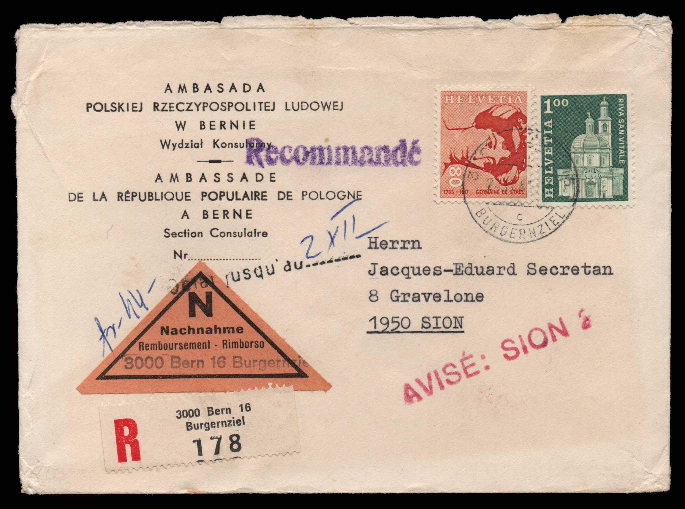 Lot 1978 - - LETTERS & COVERS OF VARIOUS COUNTRIES LETTERS& COVERS OF VARIOUS COUNTRIES -  Athens Auctions Public Auction 75 General Stamp Sale