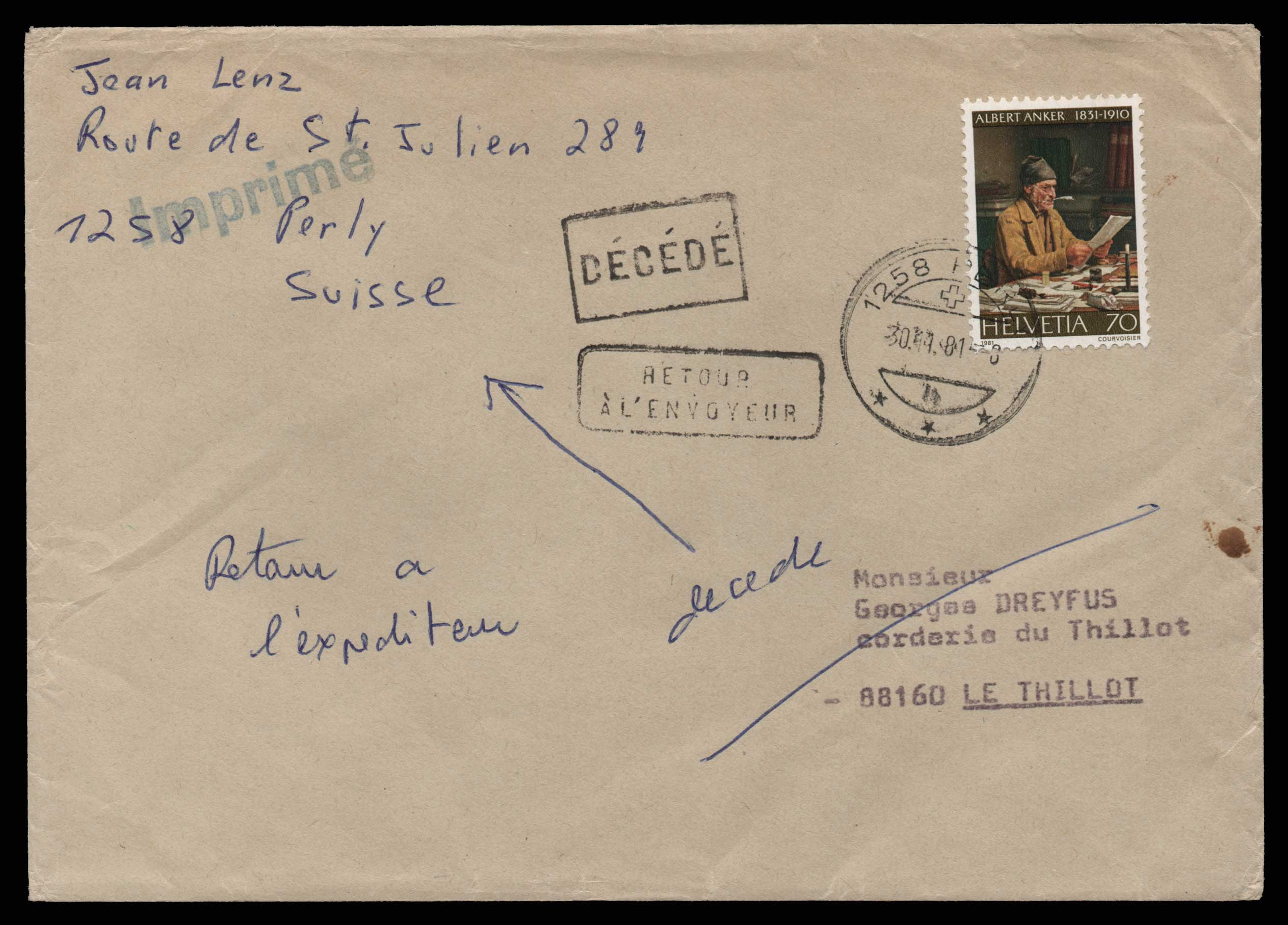 Lot 1981 - - LETTERS & COVERS OF VARIOUS COUNTRIES LETTERS& COVERS OF VARIOUS COUNTRIES -  Athens Auctions Public Auction 75 General Stamp Sale