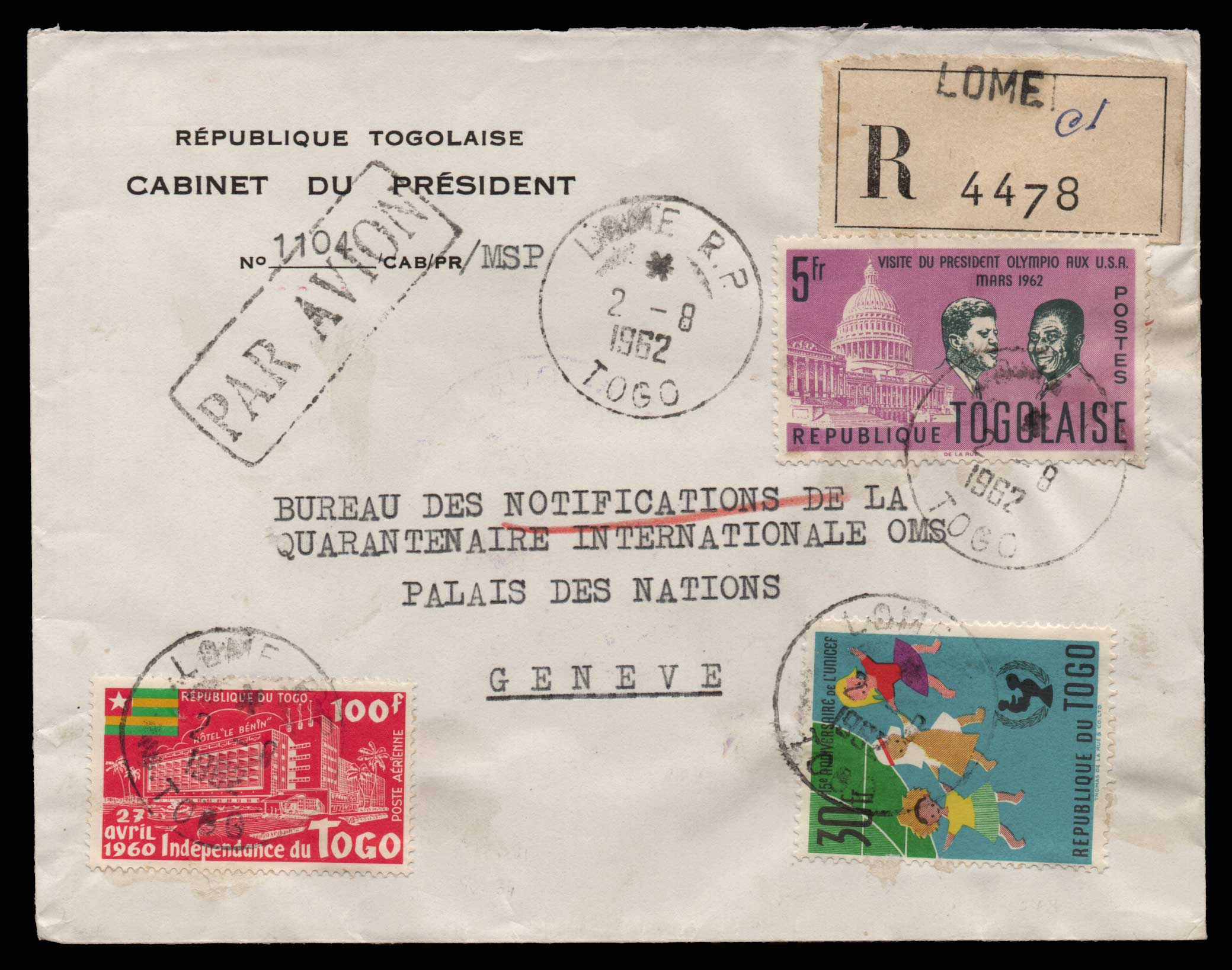 Lot 1982 - - LETTERS & COVERS OF VARIOUS COUNTRIES LETTERS& COVERS OF VARIOUS COUNTRIES -  Athens Auctions Public Auction 75 General Stamp Sale