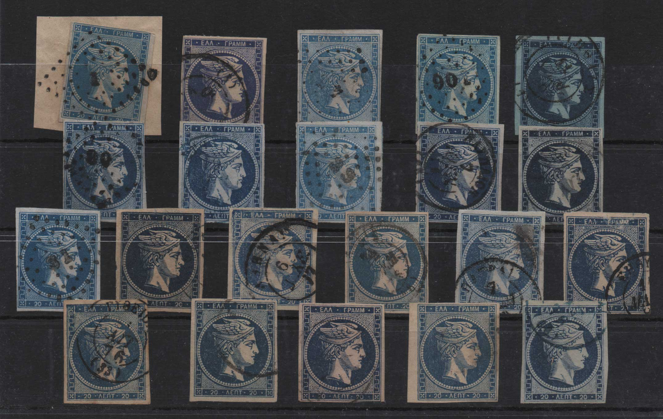 Lot 25 - -  LARGE HERMES HEAD large hermes head -  Athens Auctions Public Auction 75 General Stamp Sale