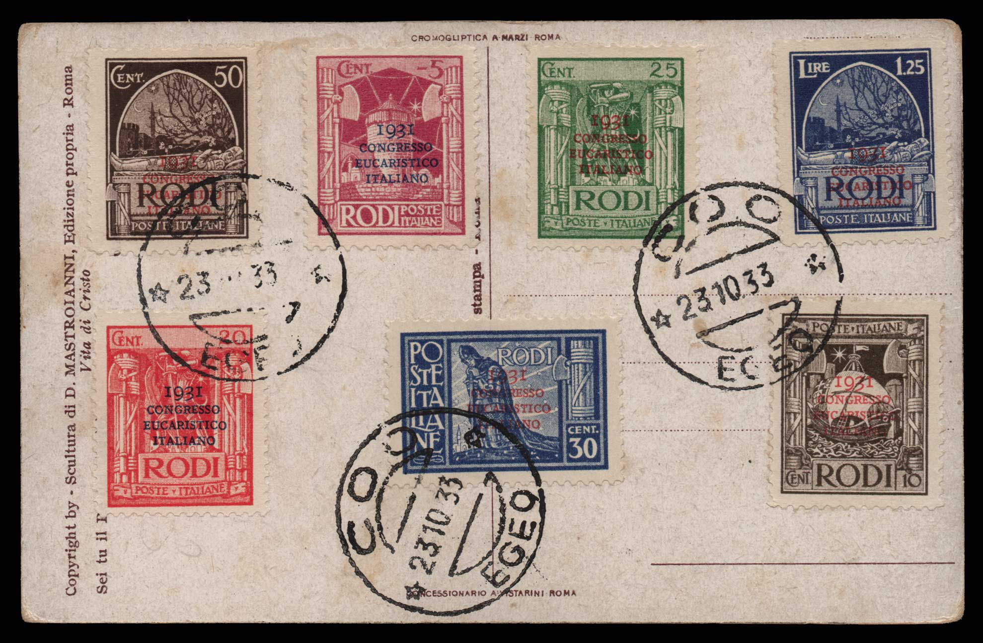 Lot 1101 - -  DODECANESE Dodecanese -  Athens Auctions Public Auction 82 General Stamp Sale