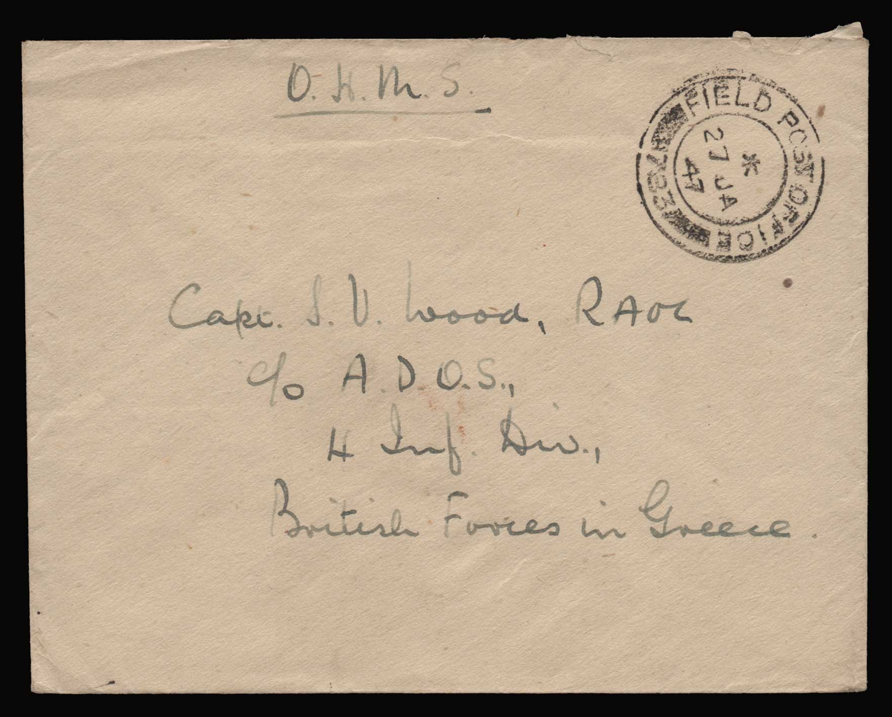 Lot 1300 - -  MILITARY CANCELLATIONS military cancellations -  Athens Auctions Public Auction 88 General Stamp Sale