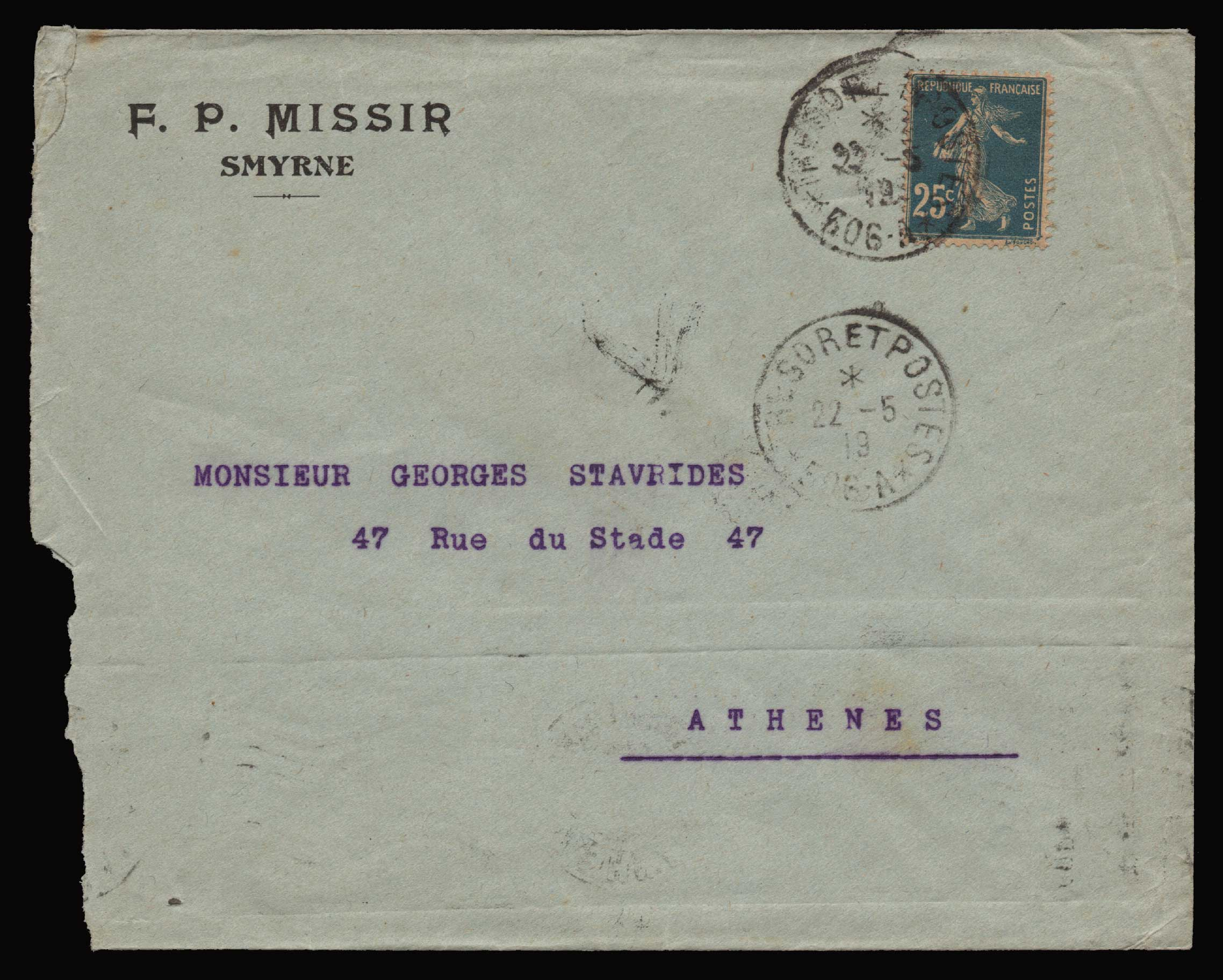 Lot 1326 - -  MILITARY CANCELLATIONS military cancellations -  Athens Auctions Public Auction 87 General Stamp Sale