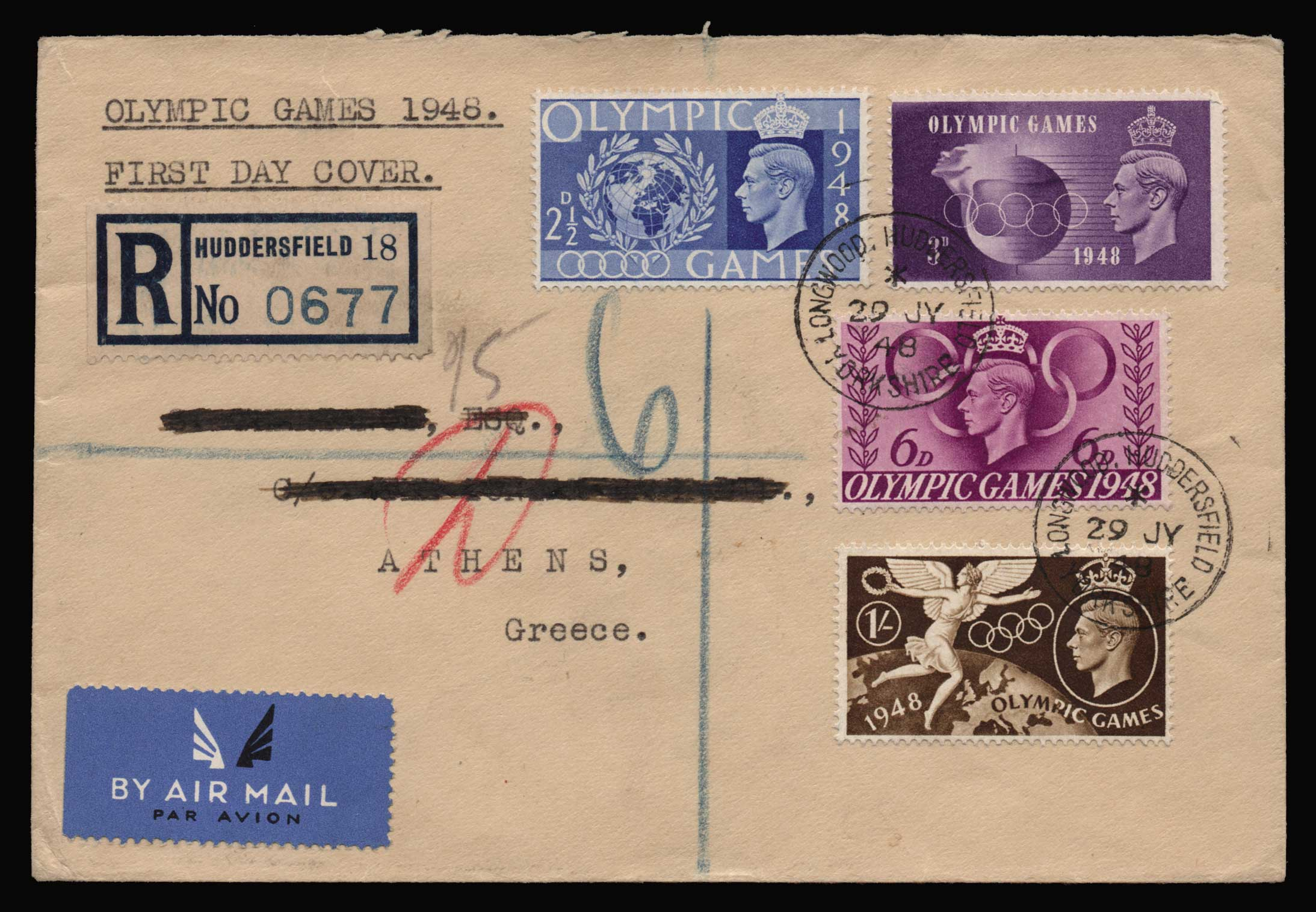 Lot 2118 - - LETTERS & COVERS OF VARIOUS COUNTRIES LETTERS& COVERS OF VARIOUS COUNTRIES -  Athens Auctions Public Auction 87 General Stamp Sale