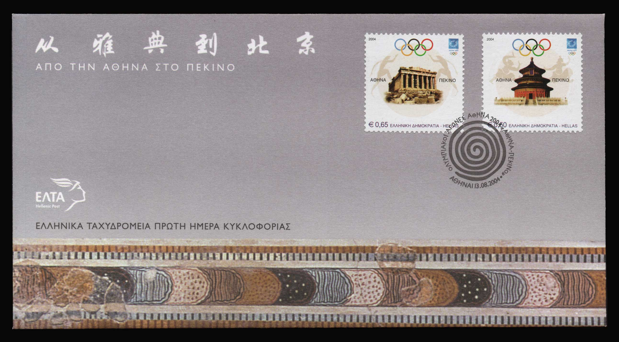 Lot 1063 - -  FIRST DAY COVER First day cover -  Athens Auctions Public Auction 87 General Stamp Sale