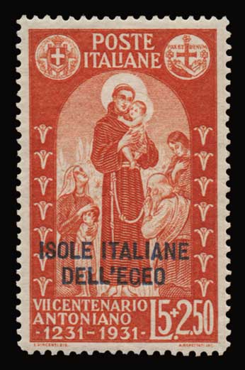 Lot 1155 - -  DODECANESE Dodecanese -  Athens Auctions Public Auction 91 General Stamp Sale